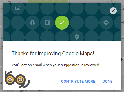 تایید ثبت مکان در نقشه گوگل
